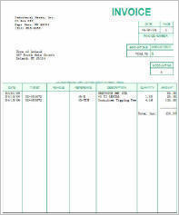 Sample WasteWIZARD invoice